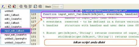 edit m file dari GUI